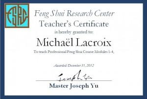 Michael Lacroix enseignant en feng shui